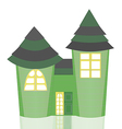 Isolated Green Castle vector image