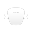 Just white isolated badge vector image vector image