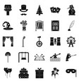 magic performance icons set simple style vector image vector image