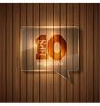 modern bubble speech background Eps 10 vector image vector image