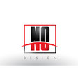no n o logo letters with red and black colors and vector image vector image