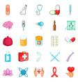 nursing care icons set cartoon style vector image vector image