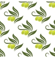 Olives seamless pattern vector image