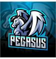 pegasus esport mascot logo design vector image vector image