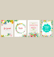 set floral universal artistic templates good vector image