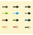 Set of arrows eps10 vector image vector image