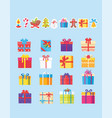 set of icons with presents vector image vector image
