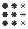 snow flake star cold ice icon symbol set vector image