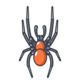 spider icon cartoon style vector image vector image