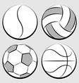 sport balls set vector image vector image