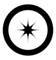 star black icon in circle vector image vector image