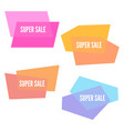 super sale sticker with colorful geometric forms vector image vector image