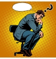 Thinker businessman business concept vector image vector image