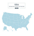 usa map mono color high detail separated all state vector image vector image