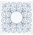 vintage linear patterned frame vector image