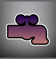 water faucet sign violet vector image