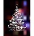 Magic Christmas Tree on abstract colorful vector image