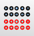 Media Player Icons set basic vector image