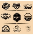 set of coffee labels design elements vector image