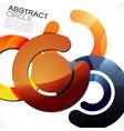 abstract colorful shiny circle or ring vector image