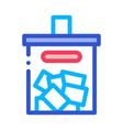 ballot box icon outline vector image