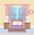 bed room scene icon vector image vector image