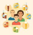 beer flat colorful poster vector image
