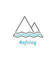 black and blue rafting logo vector image
