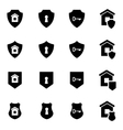 black home security icon set vector image vector image