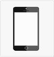 black smart mobile phone vector image vector image