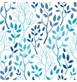 blue forest seamless pattern background vector image vector image