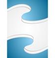 Blue wavy abstract flyer design vector image vector image