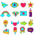 bright object icons vector image