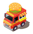 burger machine icon isometric style vector image vector image