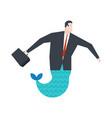 businessman mermaid boss is an underwater vector image