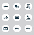 car icons set collection of hatchback carriage vector image