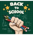 Children back to school poster vector image