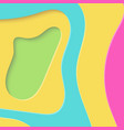 colorful spectrum rainbow paper cut background vector image