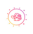 couple love line icon group of women sign vector image