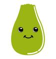 cute fruit emoticon vector image vector image