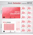Desk Calendar 2016 Design Template vector image vector image