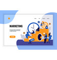 digital marketing page design vector image vector image
