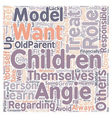 Do You Want Your Children to Be Like You text vector image vector image