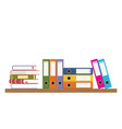 document storage shelves vector image