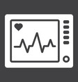 ecg machine glyph icon medicine vector image