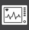 ecg machine glyph icon medicine vector image vector image
