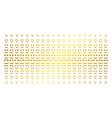 embarrassed smile gold halftone matrix vector image