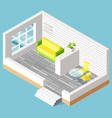 furniture in living room interior flat vector image vector image
