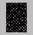 geometric pentagram pattern background flyer vector image vector image