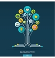 Growth tree concept for business communication vector image vector image